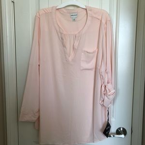 Ava and Viv (Target) Pale Pink Blouse (size 3X)